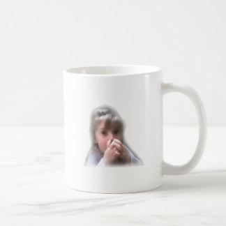 girl nose picker mug