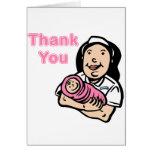 girl nurse thank you greeting cards