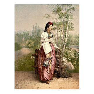 Girl of Sarajevo, Bosnia, Austro-Hungary classic P Postcard