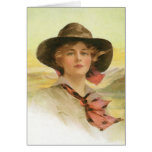 Girl Of The Golden West Greeting Card