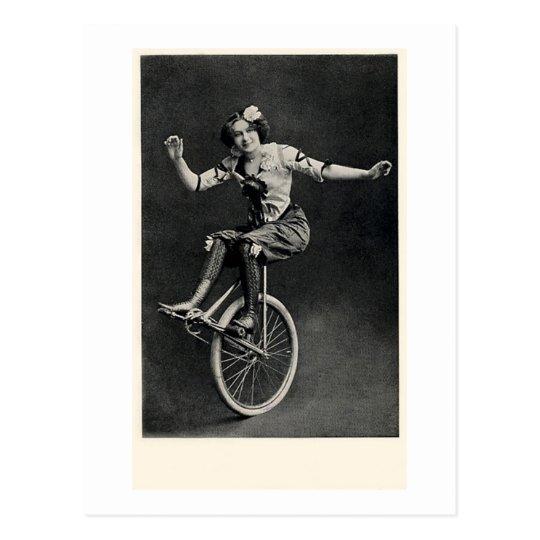 Girl on a Unicycle Postcard