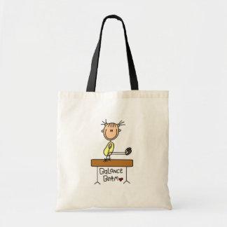 Girl on Balance Beam Tote Bag