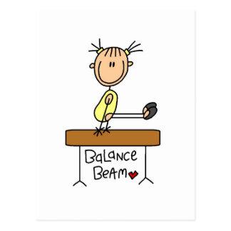 Girl on Balance Beam Tshirts and Gifts Postcard