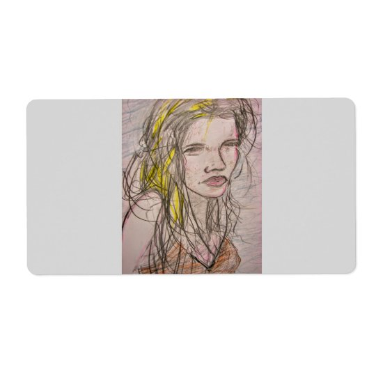 Girl on Beach Shipping Label