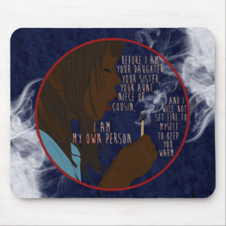 Girl on Fire Mouse Pads