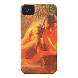 Girl on Fire - Passionate Fire Art iPhone 4 Case-Mate Cases