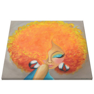 Girl on Fire | Wrapped Canvas Print