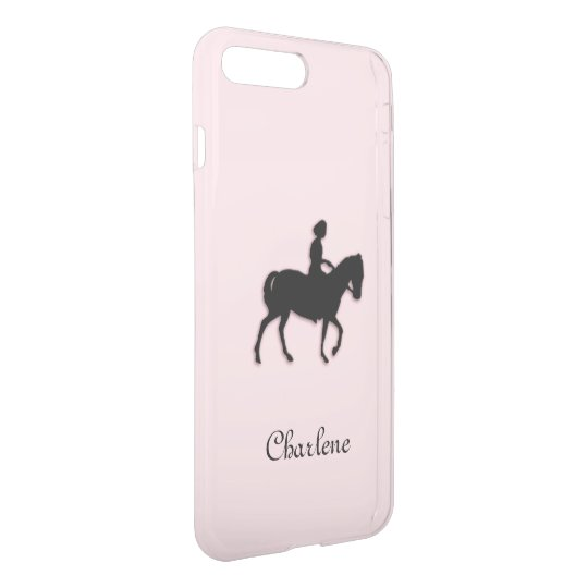 Girl on Horse / Pony Pink Personalised iPhone