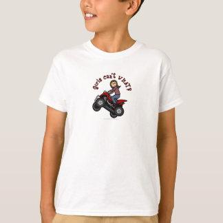 Girl on Red Four Wheeler T-Shirt