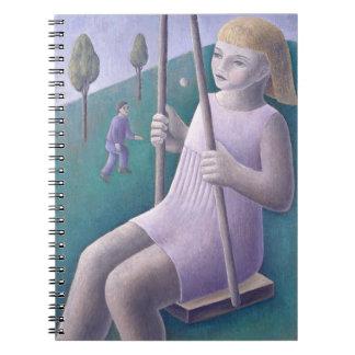 Girl on Swing 1996 Spiral Notebook