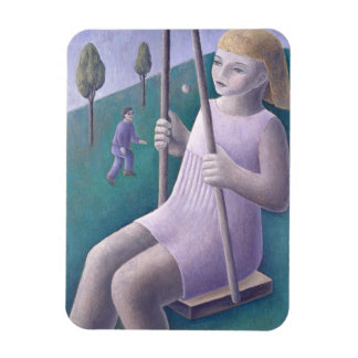Girl on Swing 1996 Rectangular Photo Magnet
