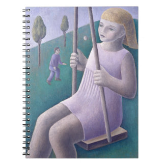 Girl on Swing 1996 Spiral Notebook