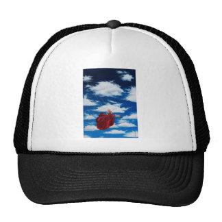 Girl on swing in clouds trucker hat