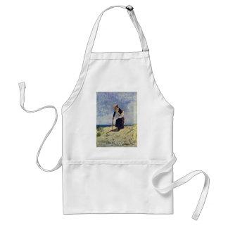 Girl On The Beach By Nittis Giuseppe De Standard Apron