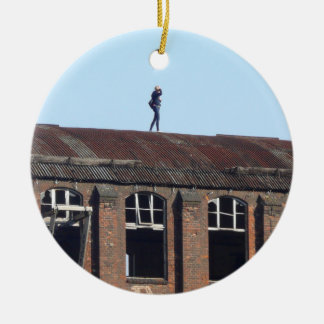 Girl on the Roof - Lost Places 02.0 Christmas Ornament