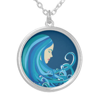 Girl on The Wave Necklace