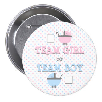 Girl or Boy-Gender Reveal-Baby Shower Button