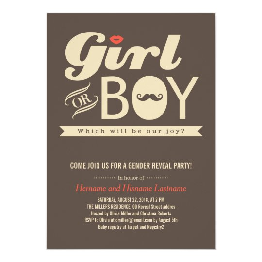 Girl or Boy Hip Baby Gender Reveal Party