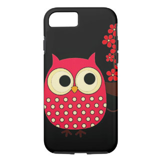 Girl Owl with Flowers iPhone 8/7 Case