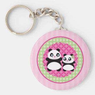 Girl Panda Bear Keychain