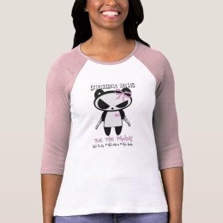 Girl Panda Exterminate Racism Sports Tees