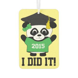 Girl Panda Grad Wearing Green & White 2015 Tee