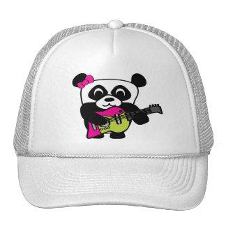 Girl Panda Guitar Fun Cap