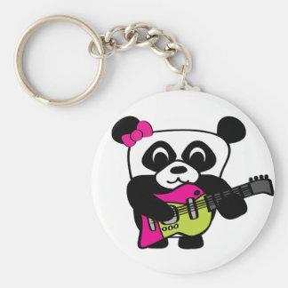 Girl Panda Guitar Fun Key Ring