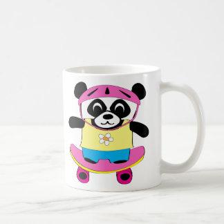 Girl Panda on Skateboard Coffee Mug