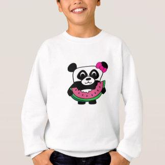 Girl Panda with Watermelon Slice Sweatshirt