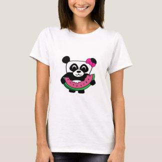 Girl Panda with Watermelon Slice T-Shirt