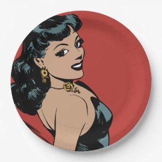 Girl Paper Plate