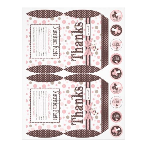 Girl Party Favor Box Template B Personalized Flyer