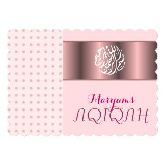 Girl pink aqiqah Islamic Invite