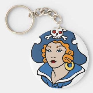 Girl Pirate Key Ring