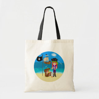 Girl Pirate with Treasure Chest Bag