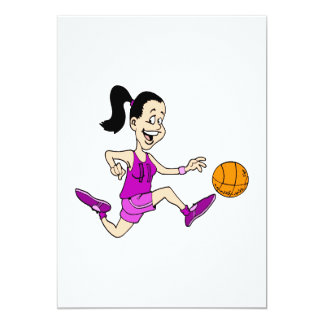 Girl playing basketball 11 personalized announcements