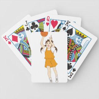 Girl Playing Basketball Bicycle Playing Cards