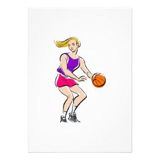 Girl playing Basketball Invite