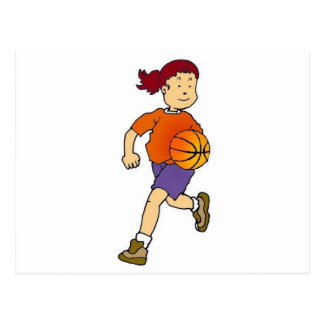 Girl Playing Basketball Postcard
