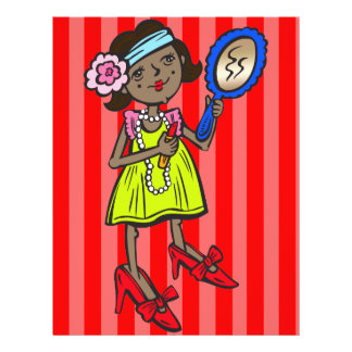 Girl Playing Dress Up 21.5 Cm X 28 Cm Flyer