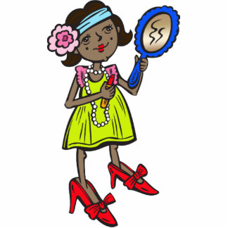Girl Playing Dress Up Photo Cut Out