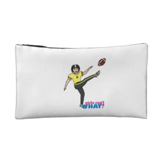 Girl Playing Football Light/Blonde Cosmetics Bags