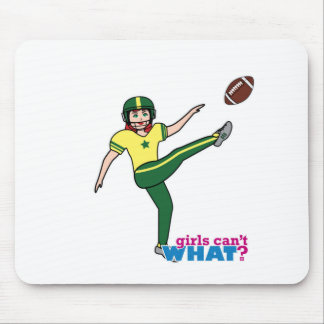 Girl Playing Football Red/Light Mouse Pad
