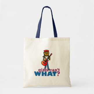 Girl Playing Guitar Canvas Bags