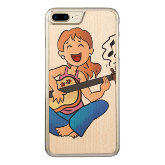 girl playing guitar carved iPhone 8 plus/7 plus case