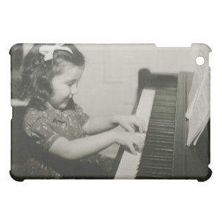 Girl Playing Piano iPad Mini Cover