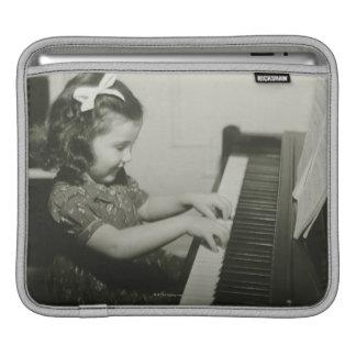 Girl Playing Piano iPad Sleeve
