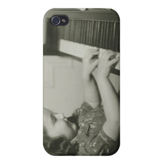 Girl Playing Piano iPhone 4 Case