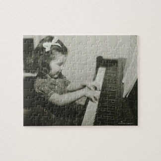 Girl Playing Piano Jigsaw Puzzle